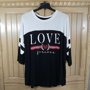 NWT, Xersion Love Forever Short Sleeve T, sz 3X